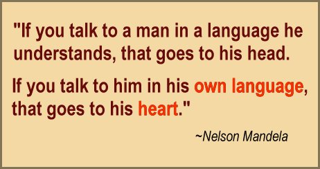 Nelson Mandela Speak Foreign Language Quote
